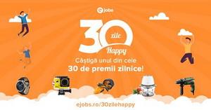 Câștiga unul dintre cele 30 de premii zilnice oferite de eJobs