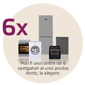 Câștigă unul dintre cele 6 produse electrocasnice mari Arctic