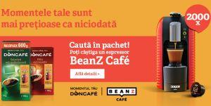 Câștigă 2.000 de espressoare Beanz Cafe Wave