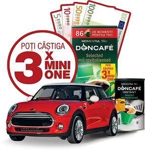 Câștigă 3 mașini Mini One și 10.210 premii instant în euro