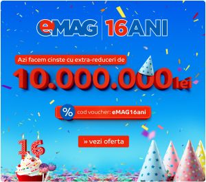 10 milioane de lei extra-reduceri de ziua eMAG