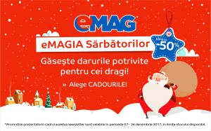 Descoperă reduceri magice pentru cadourile de Crăciun