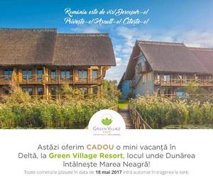 Câștigă o mini vacanţă în Delta Dunării la Green Village Resort