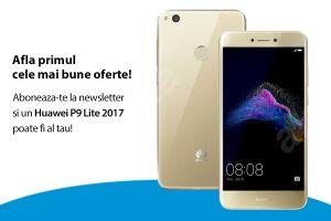 Câștigă un smartphone Huawei P9 Lite 2017