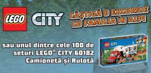 Câștigă o excursie cu familia în Alpi și 100 seturi LEGO City 60182