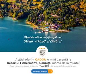 Câștigă o mini vacanță la Resortul Fisherman's din Colibița