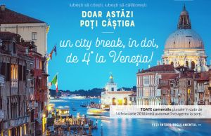 Câștigă un city break de 4 stele la Veneția