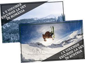 Câștigă 2 vacanțe la schi în România și o vacanță la schi în Austria