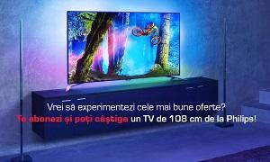 Câștigă un televizor LED Smart Ultra HD Philips