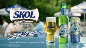 Câștigă zilnic 5 premii constând în 2 baxuri a câte 12 doze de bere Skol Nepasteurizat