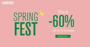 Spring Fest Fashion Days: până la 60% reducere ca să fii în pas cu moda
