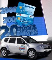 """Concurs """"Stii Banking si Castigi"""": castiga 20 de masini Dacia Duster si alte mii de premii in bani"""