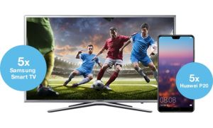 Câștigă 5 smartphone-uri Huawei P20 și 5 televizoare Samsung Smart TV