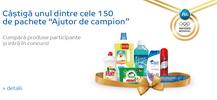 """Castiga 150 de pachete """"Ajutor de Campion"""""""