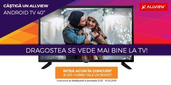 Câștigă un televizor Allview Android TV