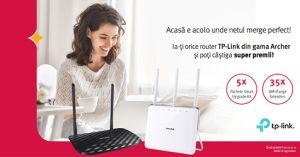 Câștigă 5 pachete TP-Link Smart Upgrade Kit și 35 de WiFi Range Extenders TP-Link RE210