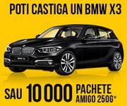 Câștigă o mașină BMW X3 și 10.000 de pachete cafea Amigo 250g