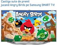 "Concurs ""Angry Birds"": castiga un televizor Samsung Smart TV 40ES7000"