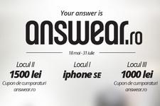 Castiga un iPhone SE si 2 vouchere Answear in valoare de 2.500 de lei