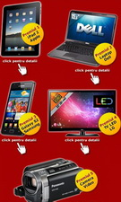 Castiga un iPad 2, un laptop Dell, un telefon Samsung Galaxy S2, un televizor LED LG si o camera video Panasonic