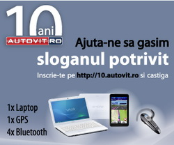 Castiga un laptop Sony Vaio, un sistem gps Garmin Nuvi, un set de anvelope si alte premii tentante