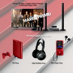 Castiga saptamanal un Smart TV Sony, un Smart Watch Sony sau o pereche de casti Sony