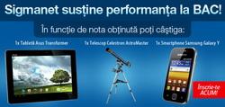 Castiga o tableta Asus Transformer Pad, un telescop Celestron si un smartphone Samsung Galaxy Y