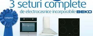 """Concurs """"Gateste ingenios"""": castiga 3 seturi de electrocasnice incorporabile Beko"""