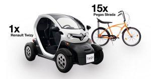 Câștigă o mașină electrică Renault Twizy sau una dintre cele 15 biciclete Pegas Strada cu My Orange