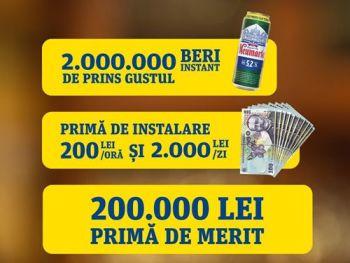 Câștigă 200.000 lei, 66 x 2.000 lei, 528 x 200 lei sau 2.000.000 doze bere Neumarkt