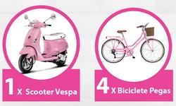 Castiga un scuter Vespa, 4 biciclete Pegas si 10 bratari Pandora