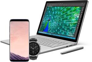 Câștigă  un laptop Microsoft Surface Book, un smartphone Samsung Galaxy S8 și un smartwatch Vector Luna