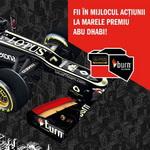 Castiga o excursie la Abu Dhabi si 100 de rucsaci Burn Lotus F1