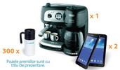 Castiga un espressor DeLonghi, 2 tablete Samsung Galaxy Tab 3 si 300 cani termoizolante