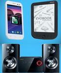 Castiga un telefon mobil, un sistem audio si un ebook reader