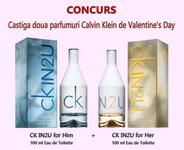 Castiga 2 parfumuri Calvin Klein de Valentine's Day