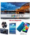 Castiga 8 televizoare Samsung Smart 3D LED Full HD, 56 smartphone Samsung Galaxy S5 si 448 de gadgeturi Samsung