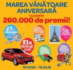 Castiga un apartament, 13 masini Renault Clio, 13 vacante de Revelion si multe alte premii