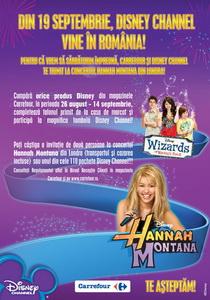 Castiga o invitatie de 2 persoane la concertul Hannah Montana din Londra sau unul din cele 110 pachete Disney Channel
