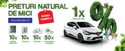 Castiga o masina Renault Clio 4 Life, 10 iPhone 6, 10 iPad Mini, 10 biciclete si 50 incarcatoare ecologice