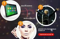 Castiga o tableta Android, 2 bilete la concertul Bon Jovi sau o sedinta foto profesionala