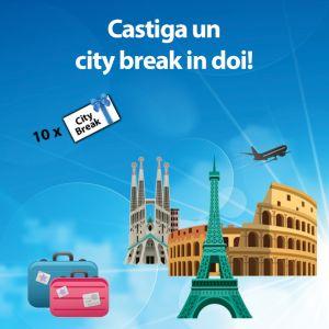 Câștigă 3 citybreak-uri la Roma, 3 citybreak-uri la Paris și 4 citybreak-uri la Barcelona