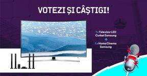 Castiga un televizor LED Curbat Smart Samsung cu diagonala de 138 cm, model 55KU6672, 4K Ultra HD