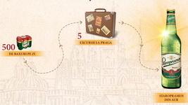 "Concurs ""Comoara din Praga"": castiga o sticla Staropramen din aur, 5 excursii in Praga si 28.000 baxuri de bere Staropramen"