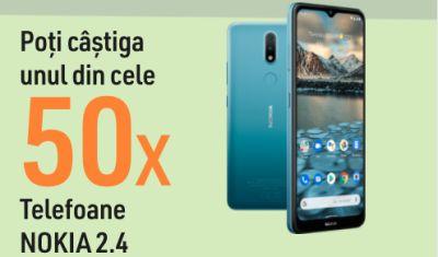 Câștigă 50 telefoane mobile Nokia 2.4
