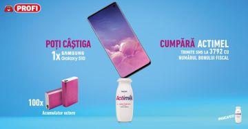 Câștigă noul telefon Samsung Galaxy S10 Prism Black și 100 de baterii externe