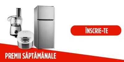 Câștigă 10 frigidere LG, 5 multicookere Philips și 5 storcatoare Philips