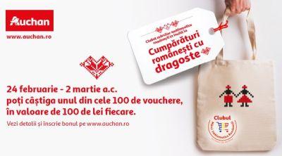 Câștigă 100 vouchere Auchan în valoare de 100 lei fiecare