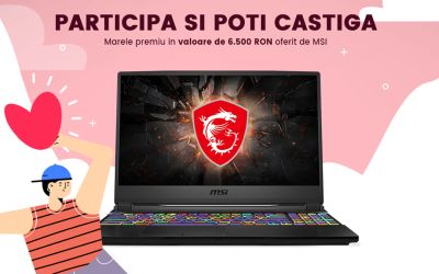 Câștigă un laptop MSI Gaming GE65 Raider 9SE