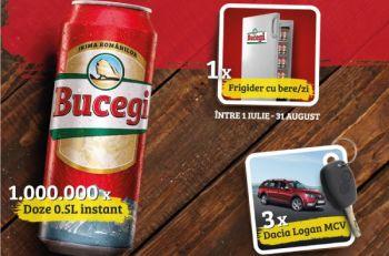 Câștigă 3 mașini Dacia Logan MCV, 62 frigidere Arctic  și 1.000.000 doze bere Bucegi
